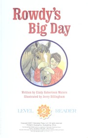 Cover of: Rowdy's big day | Cindy Robertson Waters