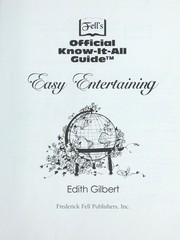 Cover of: Easy entertaining