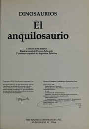 Cover of: El anquilosaurio |