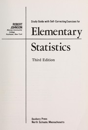 Cover of: Study guide with self-correcting exercises for elementary statistics | Robert Johnson