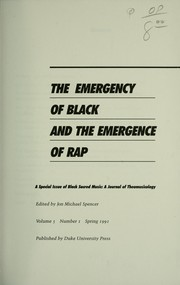 Cover of: The Emergency of Black and the emergence of rap