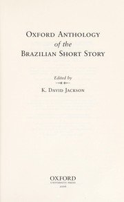 Cover of: Oxford anthology of the Brazilian short story |