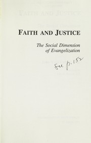 Cover of: Faith and justice