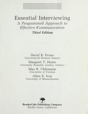 Cover of: Essential interviewing | David R. Evans ... [et. al.].