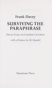 essays in the history of art librarianship in canada Concordiaca / library / help & how-to / writing / how to write a research paper how to there are subject librarians to assist concordia university.