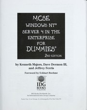 Cover of: MCSE Windows NT Server 4 in the enterprise for dummies, 2nd edition