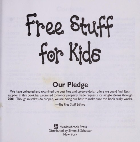 Free Stuff for Kids 2001 (2001 edition)   Open Library