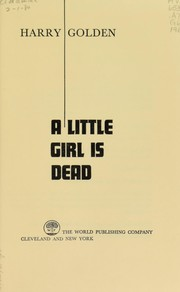 Cover of: A little girl is dead