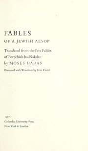 Fables of a Jewish Aesop
