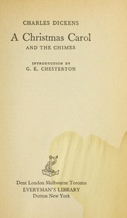 Cover of: A Christmas Carol, and, the chimes | Charles Dickens