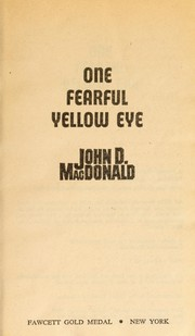 Cover of: One fearful yellow eye