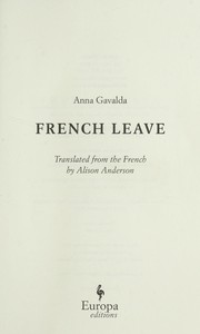 Cover of: French leave