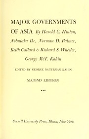Cover of: Major governments of Asia | by Harold C. Hinton [et al.] ; edited by George McTurnan Kahin.