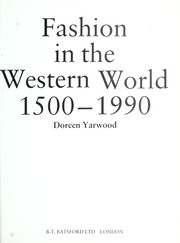 Cover of: Fashion in the western world, 1500-1990 | Doreen Yarwood