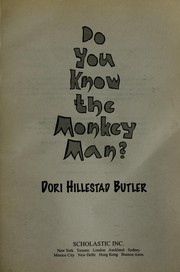 Cover of: Do you know the monkey man? | Dori Hillestad Butler