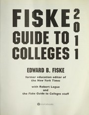 Cover of: Fiske guide to colleges 2011