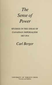 Cover of: The sense of power