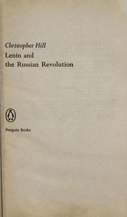 Lenin and the Russian revolution by Christopher Hill