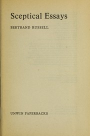Cover of: Sceptical essays | Bertrand Russell