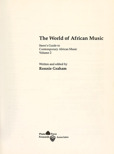 The world of African music : Stern's guide to contemporary African music, volume 2 by