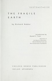 Cover of: The fragile earth | Richard Amdur