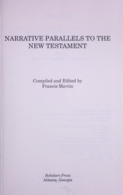 Cover of: Narrative parallels to the New Testament