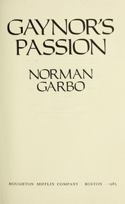 Cover of: Gaynor's passion