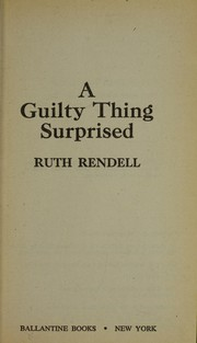 Cover of: A guilty thing surprised
