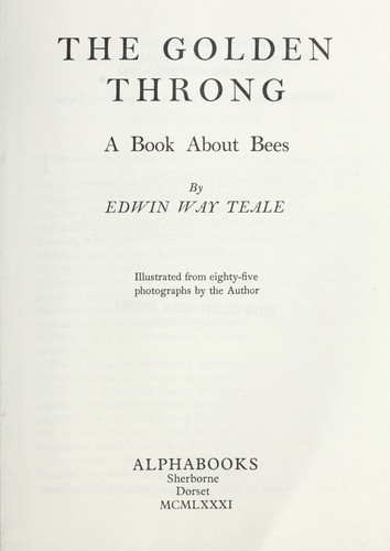 The golden throng : a book about bees by