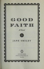 Cover of: Good faith