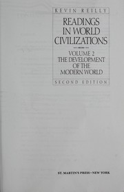 Cover of: Readings in World Civilizations