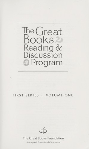 The Great Books Reading and Discussion Program (First Series, Volume 1) by Anton Pavlovich Chekhov, Aristotle, Plato, Joseph Conrad, Immanuel Kant, Karl Marx, Bible, Sigmund Freud, Jean-Jaques Rousseau
