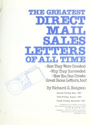Cover of: The greatest direct mail sales letters of all time | Richard S. Hodgson