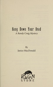 Cover of: Hang down your head