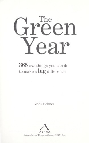The green year by Jodi Helmer