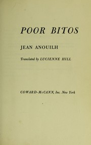 Cover of: Pauvre Bitos