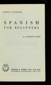Cover of: Spanish for beginners