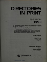 Cover of: Directories in Print | Charles B. Montney