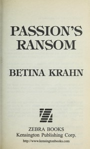 Cover of: Passion's ransom