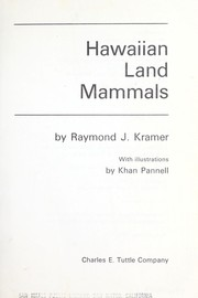 Cover of: Hawaiian land mammals