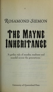 Cover of: The Mayne inheritance