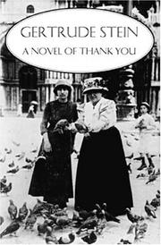 Cover of: A novel of thank you