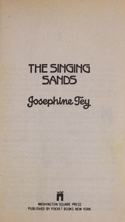 Cover of: The singing sands