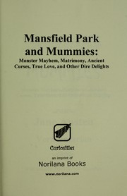 Cover of: Mansfield Park and mummies | Vera Nazarian