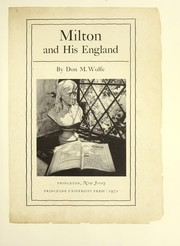 Cover of: Milton and his England