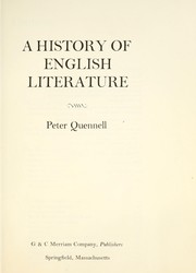 Cover of: A history of English literature