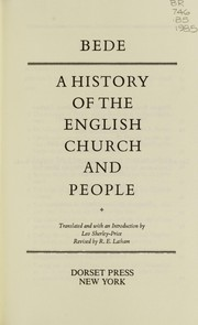 Cover of: A History of the English Church and People