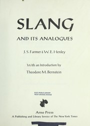 Cover of: Slang and its analogues | Farmer, John Stephen