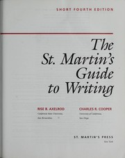Cover of: The St. Martin's guide to writing