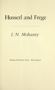 Cover of: Husserl and Frege